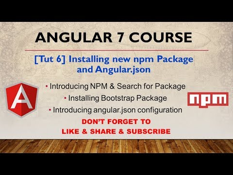 Tutorial 6] Installing Package and Angular json - YouTube