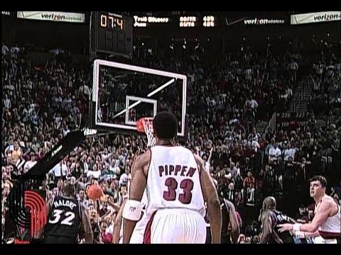 Blazers vs. Jazz - 2000 playoffs Game 5 (Pippen Game Winner)