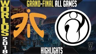 FNC vs IG Highlights ALL GAMES | Worlds 2018 Grand-final | F...