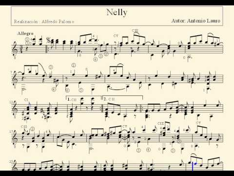 Partitura nelly de antonio lauro para guitarra cl sica for Partituras de guitarra clasica