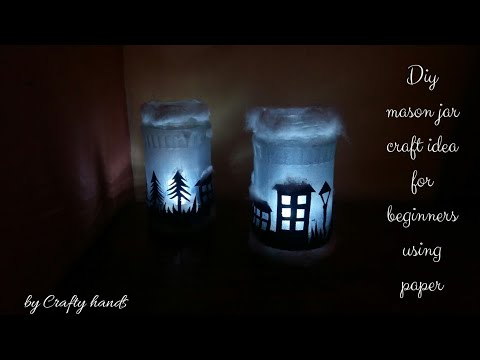 DIY tea light idea from waste|mason jar decoration idea|easy craft ideas for beginners
