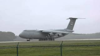 C-5A 69-0020 Rainy Take-off