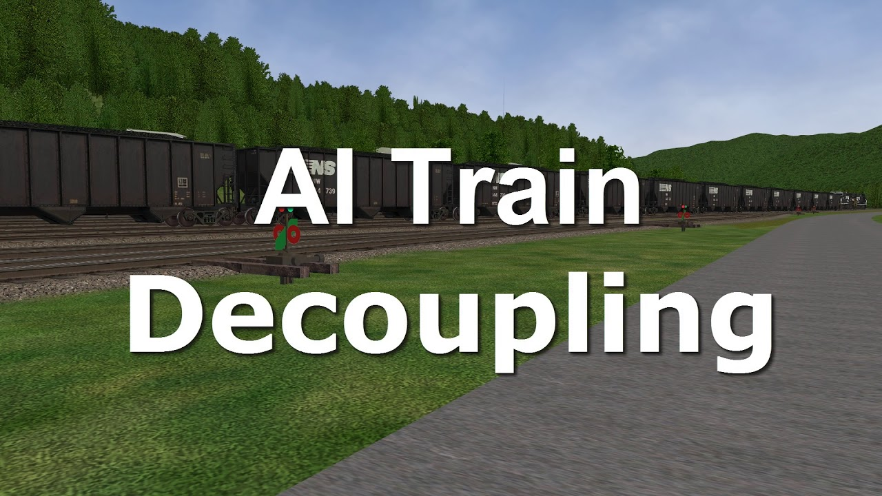 Open Rails Ai - Coupling - Decoupling - Horn Blowing - Switching Trains  Demo  Simulation Station 02:31 HD