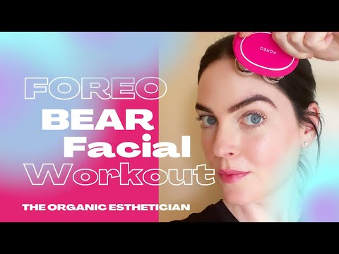 foreo-bear-facial-workout-microcurrent-demo-review
