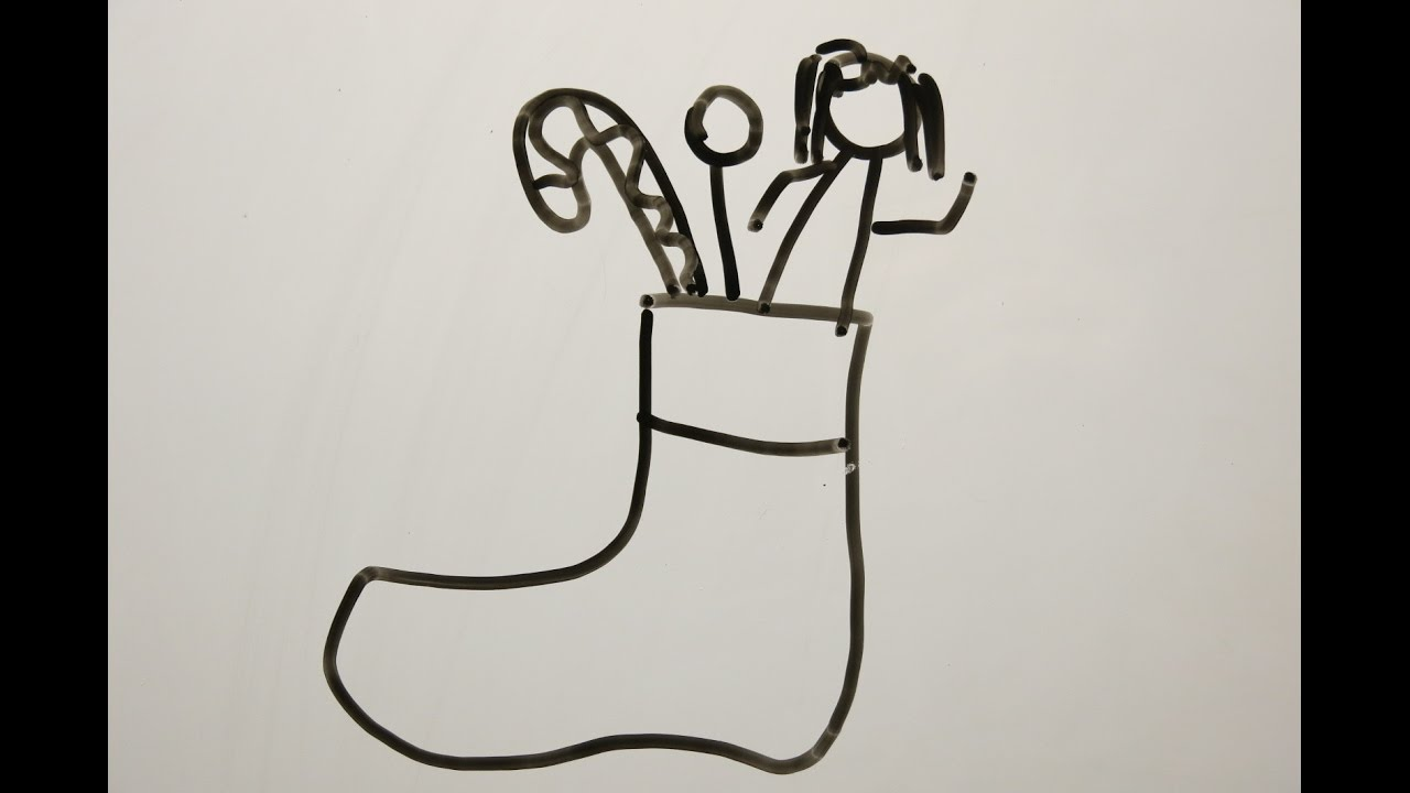 Diy Learn How To Draw Christmas Stockings Easy Drawings For Kids