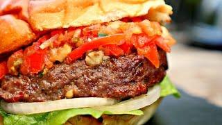 !! Wagyu Burger & JalapeÑo Tomato Relish !!