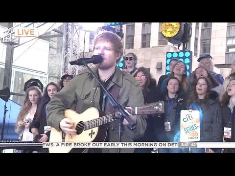 Ed Sheeran - Thinking Out Loud - Today Show