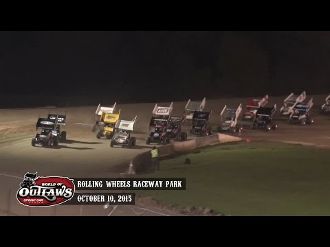 Highlights: World of Outlaws Sprint Cars Rolling Wheels Raceway Park October 10, 2015