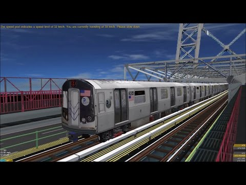 OpenBVE HD: Chasing NYC Subway R179 Z Skip-Stop Express Train (Jamaica Center to Broad Street)
