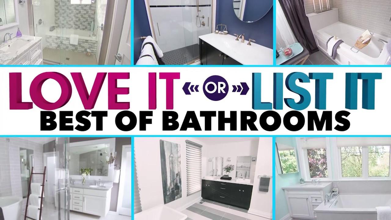 Love It Or List It Best Bathrooms Youtube