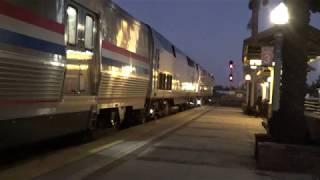 Amtrak #4 Southwest Chief departing Fullerton station 2019-10-19