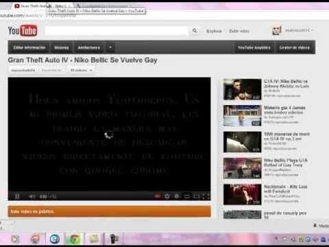 descargar videos youtube google chrome