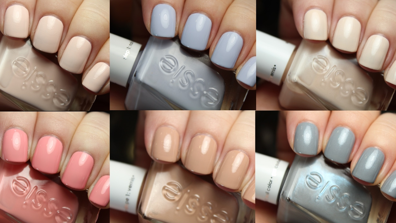 Essie Gel Couture Ballet Nudes | Live Application Review - YouTube