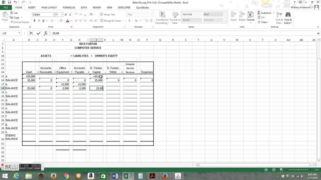 Basic Accounting Worksheet : Basic accounting equation worksheet breadandhearth