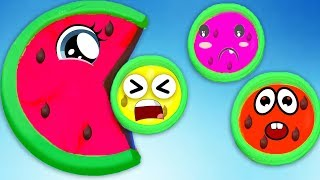 Learn 4 Colors Play Doh in Ice Cream Cups and PJ Masks Molds | Puppy Dog Pals Yowie Kinder Joy egg