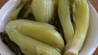 How to Make Pickled Green Mustard របៀបធ្វើជ្រក់ស្ពៃ-CAMBODIAN FOOD/ASIAN FOOD