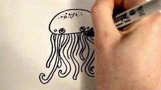 How to Draw a Cartoon Jellyfish v2
