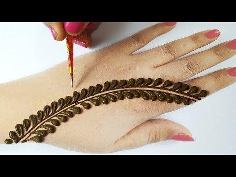 आसान मेहँदी लगाना सीखे - सूंदर गोल टिक्की मेहँदी डिज़ाइन - Latest Stylish Easy Bridal Mehndi Design