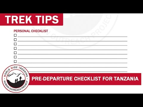 Pre-Departure Checklist for Tanzania Safari and Kilimanjaro | Trek Tips