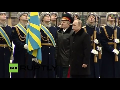 LIVE: Putin lays flowers at Tomb of the Unknown Soldier