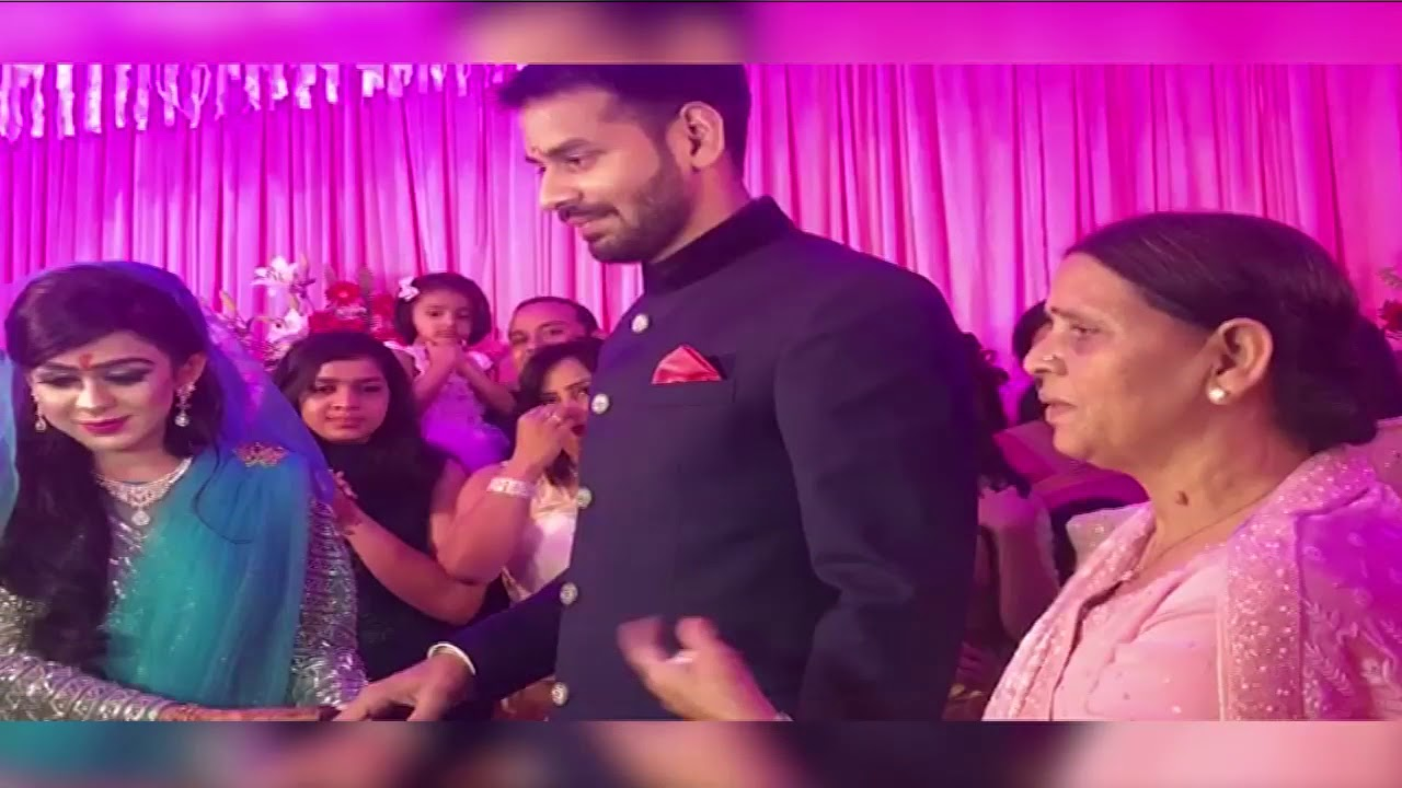 Tej pratap with Aishwarya ring ceromoney video - YouTube