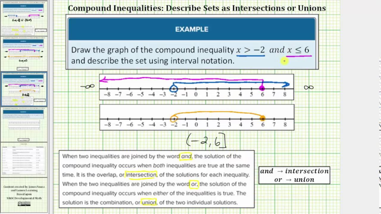 - Solve Compound Inequalities Beginning Algebra