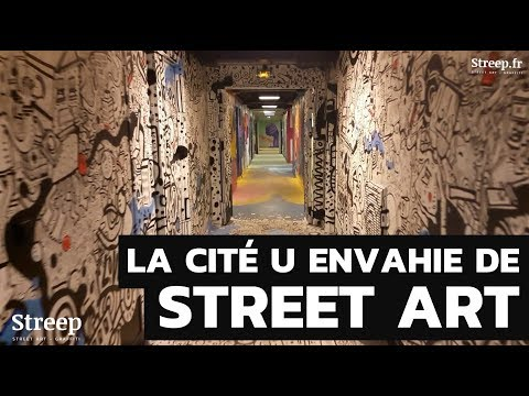 La Cité Universitaire de Paris envahie de Street Art et Graffiti