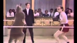 Kangaroo Fighting With Man in a match