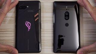 Asus ROG Phone vs Sony XZ2 Premium - Speed Test!