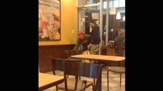 CAUGHT STEALING IN DUNKIN DONUTS!