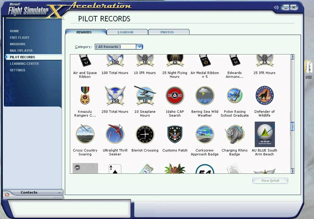 PILOT RECORDS FSX