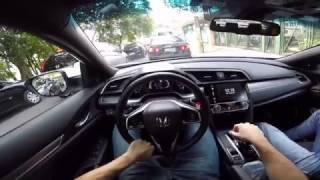 Honda Civic Touring 1.5 TURBO CVT Test Drive Onboard POV GoPro
