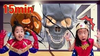 해골이 나타났어요!! 슈퍼히어로 변신 괴물들을 물리쳐요! 아엘튜브 Halloween night of the skeleton! Superhero Avengers Aeltube