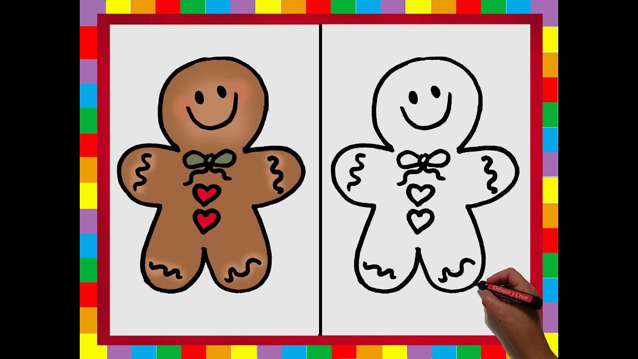 Especial Navidad nº 5: Como Dibujar una Galleta o Dulce Navideño ...