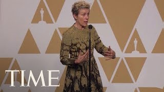 Here's What Frances McDormand Meant By 'Inclusion Rider' In Her Oscars Speech | TIME