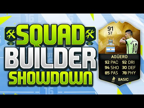FIFA 16 SQUAD BUILDER SHOWDOWN!!! 91 RATED SERGIO AGUERO!!! The Highest Rated Player In The BPL