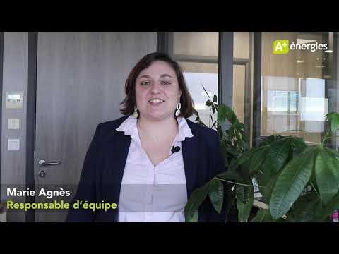 A+ énergies - Témoignage salarié : Marie Agnès, responsable d'équipe