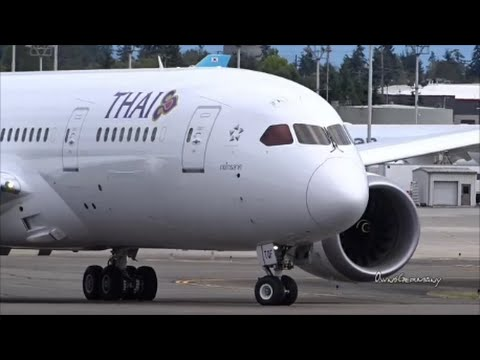 Thai Airways Last Boeing 787 Dreamliner HS-TQF Delivery Flight @ KPAE Paine Field