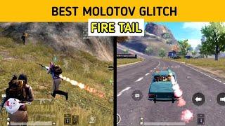 Beautiful Fire tail glitch using Molotov   My sensitivity setting   pubg mobile Hindi Gameplay