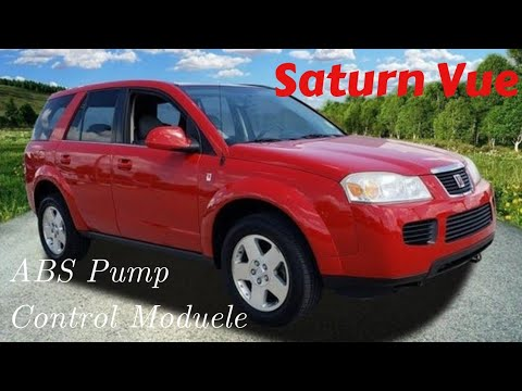Saturn Vue ABS light on ABS pump control module replacement how to