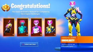 *NEW* SINGULARITY SKIN in Fortnite.. (ALL HELMET LOCATIONS)