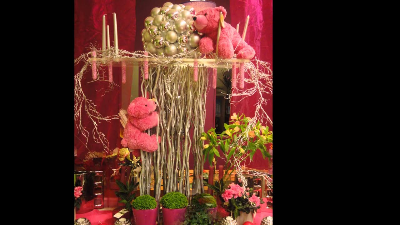 No l vu par inflorescence youtube - Decoration vitrine de noel fleuriste ...