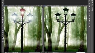 как сделать свет в фонаре в фотошоп cs6