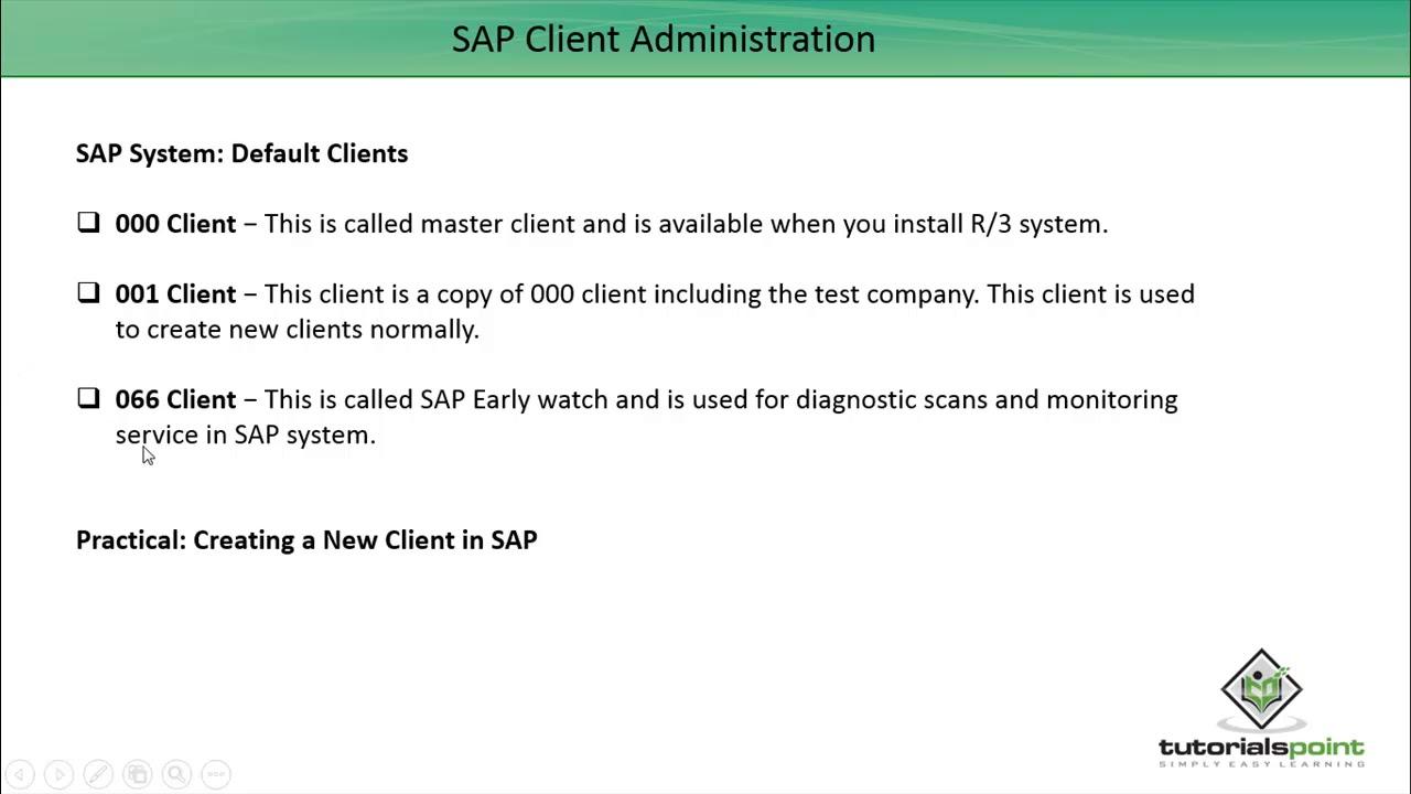 SAP Basis - Creating a Client