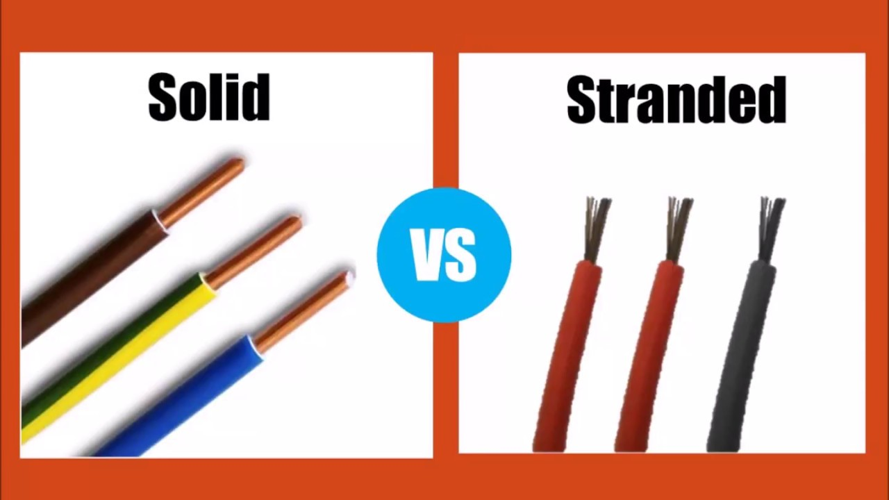 Stranded Vs Solid Wire >> Solid Vs Stranded Wire Differnece Between Wires