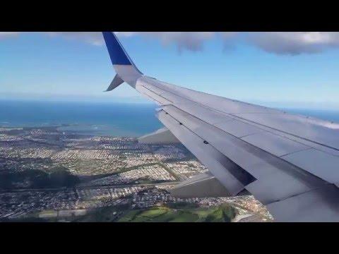 Landing at San Juan international airport  (SJU)