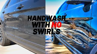 Hand wash a (black) car without swirl marks!