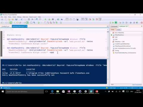 PowerShell and KeePass - A poor persons Credential Database (Christian Lehrer)