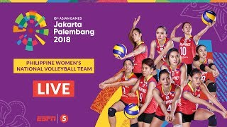 LIVE: Volleyball W Prelims: Philippines vs Thailand | 2018 Asian Games
