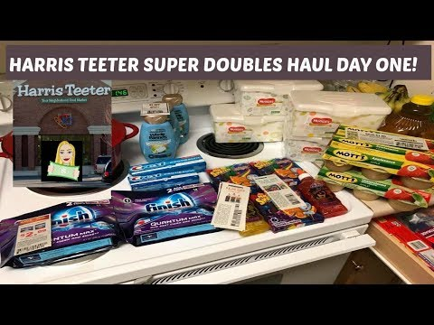 Harris Teeter Super Doubles Haul! Freebies!!!!!!